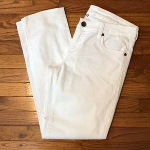 Kut From the Kloth White Catherine Boyfriend Jeans